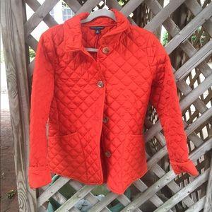 Banana Republic burnt orange quilted jacket, M